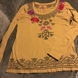 Johnny Was Embroidered Top XL